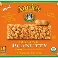 Annie's Homegrown Organic Peanutty Chewy Yet Crispy Granola Bars