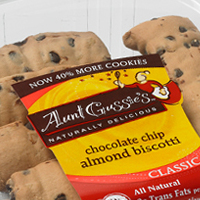 Aunt Gussies Chocolate Chip Almond Biscotti