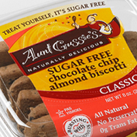Aunt Gussies Sugar Free Chocolate Chip Almond Biscotti