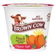 Brown Cow  Cream Top  Peach