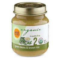 Wild Harvest Organic Green Beans and Brown Rice Baby Food