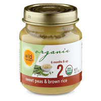 Wild Harvest Organic Peas and Brown Rice Baby Food