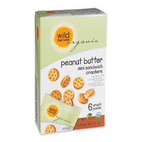 Wild Harvest Organic peanut butter mini sandwich crackers snack pack