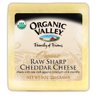 Organic Valley Organic Raw Sharp Cheddar Cheese
