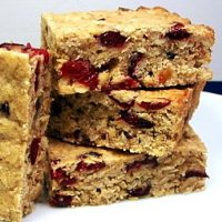 Chewy Cranberry Oatmeal Bars
