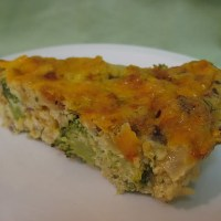 Organic Zesty Garlic and Broccoli Fritatta