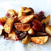 Grilled and Tender Potato Wedges