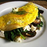Scrambled Eggs Feta & Spinach